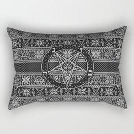 Satanic ugly sweater Rectangular Pillow