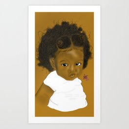 Kinkz and Curlz Art Print