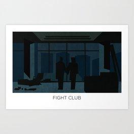 El club de la pelea minimalista Art Print