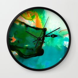 Abstract Bliss 4P by Kathy Morton Stanion Wall Clock