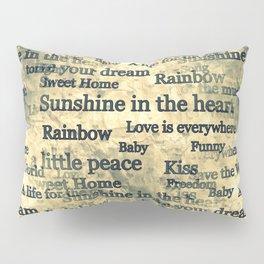 Words Popart by Nico Bielow Pillow Sham