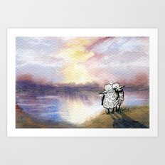 Companion Sheep Art Print