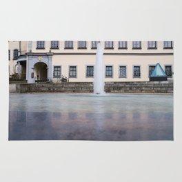 Castle fountain Rug
