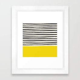 Sunshine x Stripes Framed Art Print