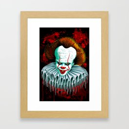 The Dancing Clown - Pennywise IT - Vector - Stephen King Character Framed Art Print