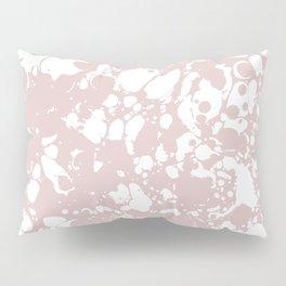 Blush Pink White Spilled Paint Mess Pillow Sham