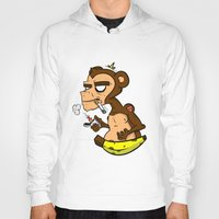 monkey island Hoodies featuring Groovy Monkey by Groovy Gangster