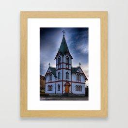 Husavik Church Iceland Framed Art Print