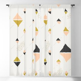 Abstract rhombuses Blackout Curtain