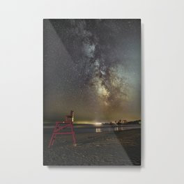 Lifeguard chair and the Milkyway Metal Print