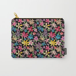 Scattered Watercolor Floral Carry-All Pouch