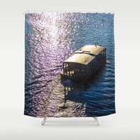 boat Shower Curtains featuring Boat  by Veronika