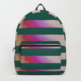 Teal Stripes Backpack
