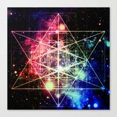 Rainbow Flower of Life : Sacred Geometry Canvas Print