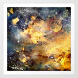 universe on fire Art Print