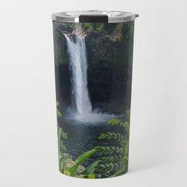 Rainbow Falls in Hawaii Travel Mug