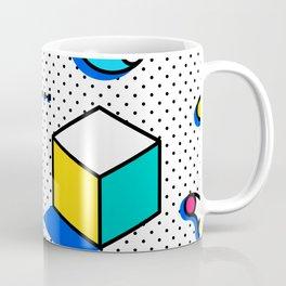 Patern in memphis, pop art style Coffee Mug