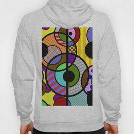 Patterned Retro - Geometric, Abstract Artwork Hoody