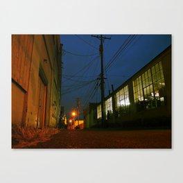 Empty urban alley Canvas Print