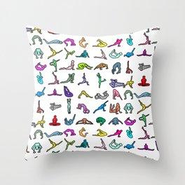 YOGA Figure Poses Throw Pillow