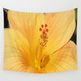 Golden Hibiscus Wall Tapestry