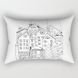 Winter town Rectangular Pillow