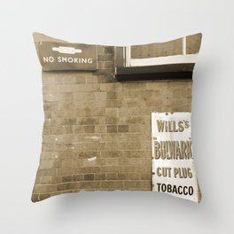 Vintage Railway Signs in Sepia Throw Pillow