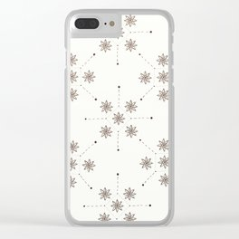 Floral Constellation (XL) Clear iPhone Case