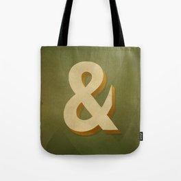 Antique Olive Bold Ampersand Tote Bag