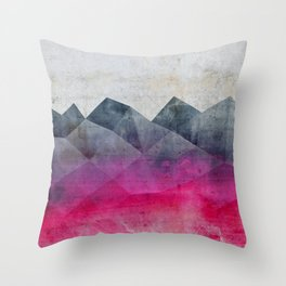 Pink Concrete Throw Pillow
