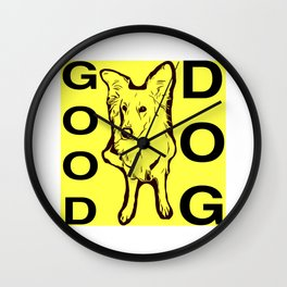 Good Dog Wall Clock