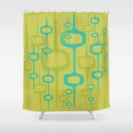Eclectic Mid Century Modern Abstract Honeycomb Pattern Shower Curtain