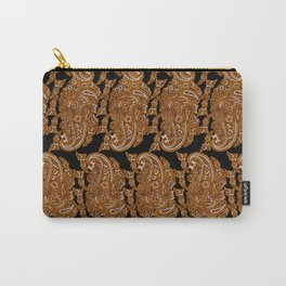 paisley packed on black Carry-All Pouch