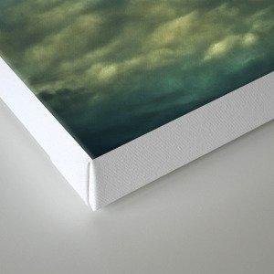 Cloudy Gray Blue Sky Vintage Canvas Print