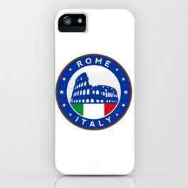 Rome, Italy, with flag iPhone Case