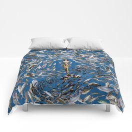 Mermaid in Monaco Comforters