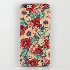 SEPIA FLOWERS -poppies, pansies & sunflowers- iPhone & iPod Skin