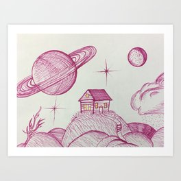 Planetary Escape Art Print