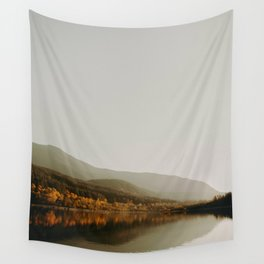 The Faded Forest on a River (Color) Wall Tapestry