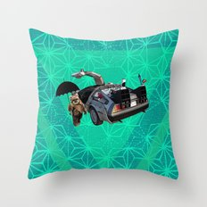 What if an ewok was Back to the Future under Mary's umbrella with Zazu ? Throw Pillow