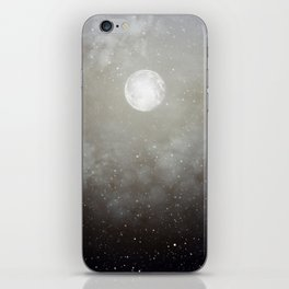 Glowing Moon in the night sky iPhone Skin