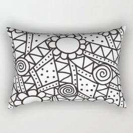 Doodle Art Flowers - Pathways that Connect 1 Rectangular Pillow