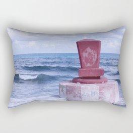 Winter Sea, Island of Women, Isla de Mujeres, Cancun, Mexico Rectangular Pillow