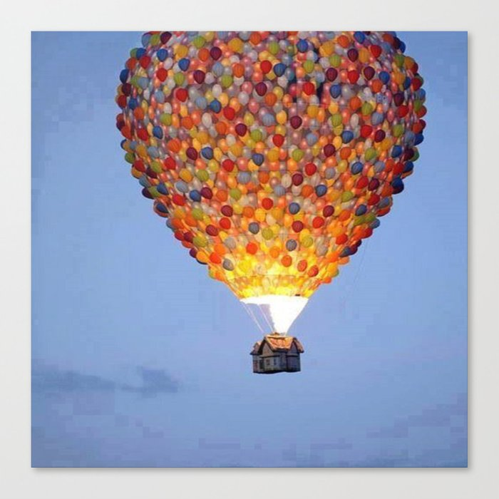 ballons home Canvas Print