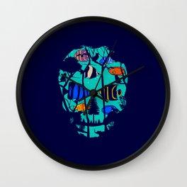 Scull Fish Wall Clock