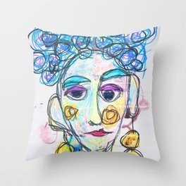 All she heard was blah, blah, blah Throw Pillow
