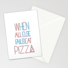 backup plan: pizza Stationery Cards
