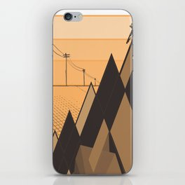 Little mountains and a car  iPhone Skin