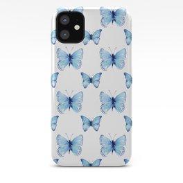 Blue Butterflies Pattern Butterfly Watercolor iPhone Case