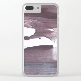 Gray claret abstract Clear iPhone Case